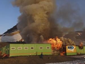incendio base brasileira antartica Fuego en la Antártica