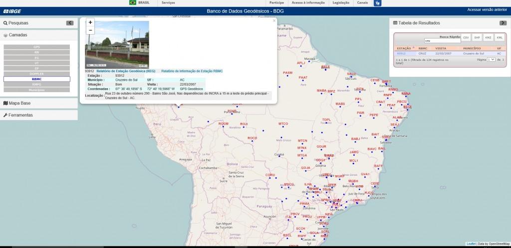 tela do novo portal de dados geoodesicos do ibge 1024x498 IBGE Nível Hard: da nova divisão territorial até a plataforma inédita de dados geodésicos