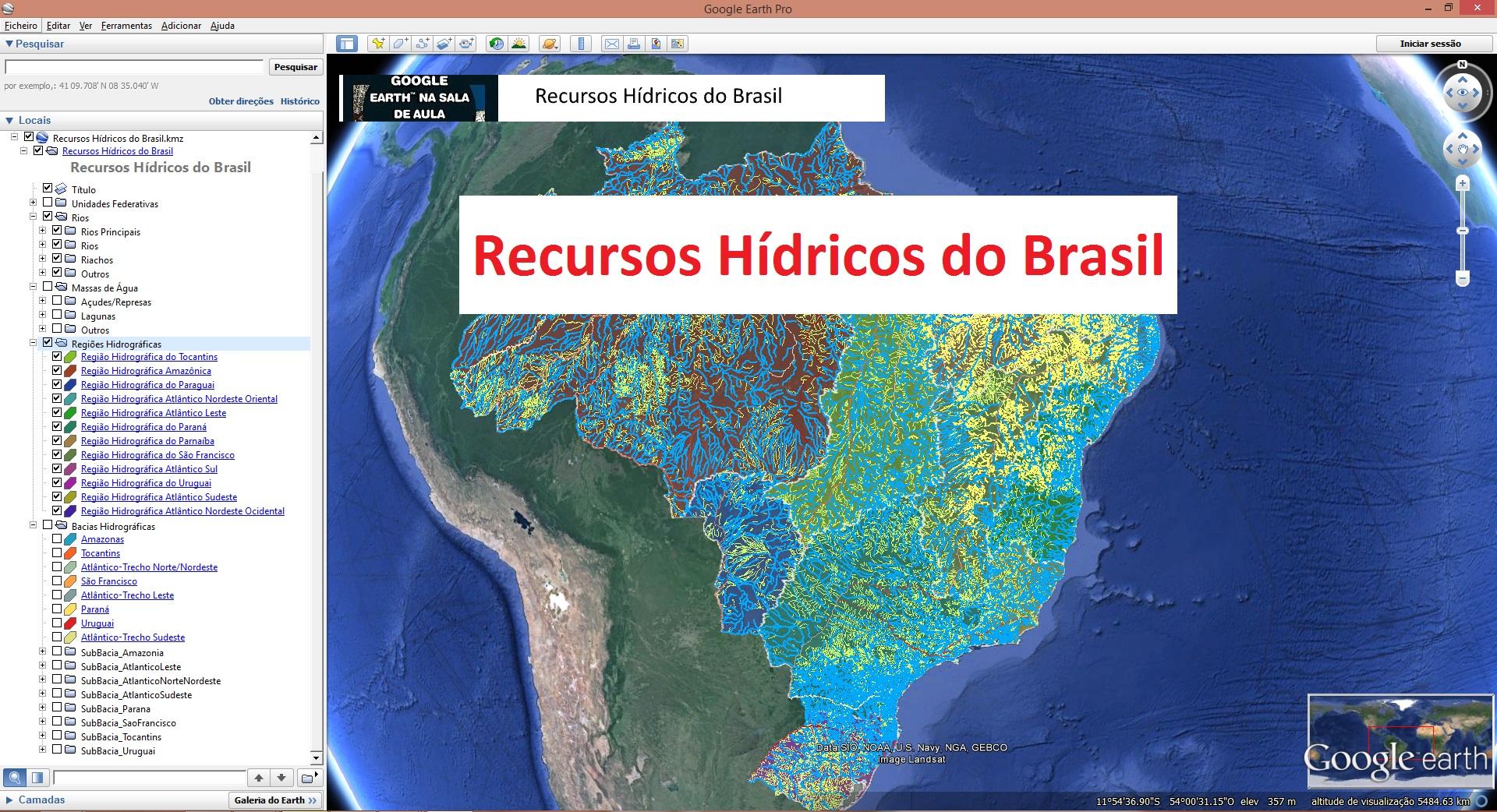 mapa digital lisboa Novo mapa digital os recursos hídricos do Brasil | Google  mapa digital lisboa
