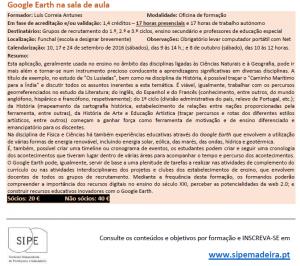 CursoSIPE Google Earth 300x266 Mapas educativos realizados por professores numa formação de Google Earth Pro (2ºedição)