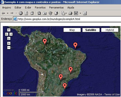 Google API - Exemplo 4 - Adicionando pontos ao mapa