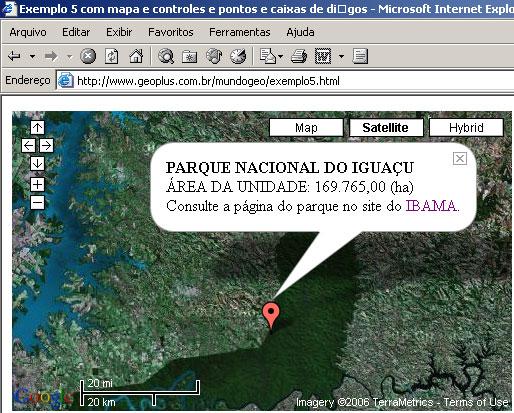 Google API - Exemplo 5 - Adicionando caixas de informação aos pontos do mapa