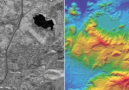 Imagen Ifsar y modelo de terreno