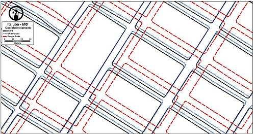 fig04 Utilização do Google Earth para obtenção de mapas viários urbanos para SIG