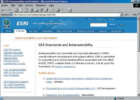 pag09 1 ESRI apóia interoperabilidade de dados espaciais globais