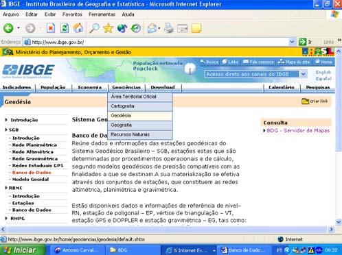 pag33 2 Banco de Dados Geodésicos