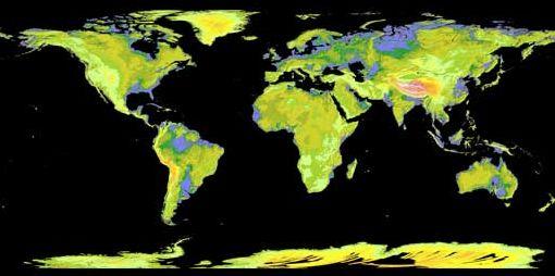 Mapa nasa japao O mais novo mapa da superfície terrestre está disponível gratuitamente na internet