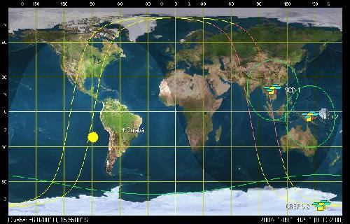 scd e cbers Acompanhe a trajetória dos satélites brasileiros em tempo real