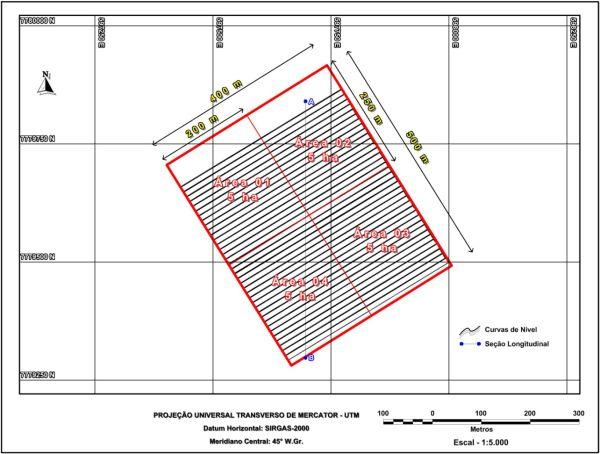 Figura 7 Estudo de caso de um levantamento topográfico altimétrico realizado com estação total e laser Scanning terrestre