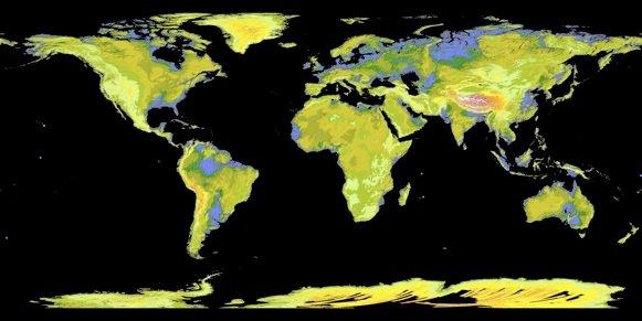 Mapa Topografico da Terra NASA e Japão anunciam novo mapa topográfico da Terra