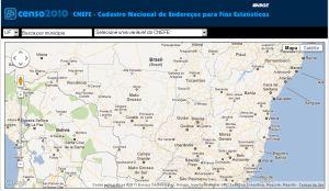 Censo 2010 Catastro IBGE divulga cadastro nacional de endereços para fins estatísticos