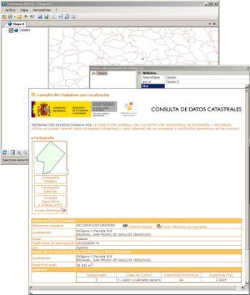 Geomap accede a la informaci n ofrecida por la oficina for Oficina virtual del catastro