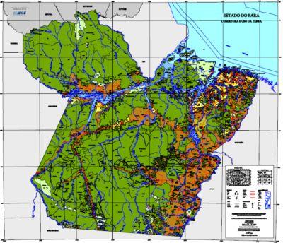 Mapa Para IBGE divulga conjuntos de mapas do Pará, Sergipe e Maranhão