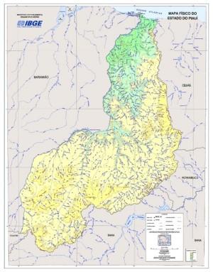 Mapa F%C3%ADsico do Estado do Piau%C3%AD IBGE IBGE lança cinco novos mapas estaduais