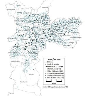 Mapa eleitoral de S%C3%A3o Paulo CEM CEM divulga mapas eleitorais da cidade de São Paulo