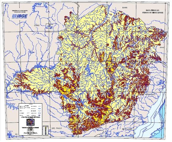 Mapa digital IBGE_Minas Gerais