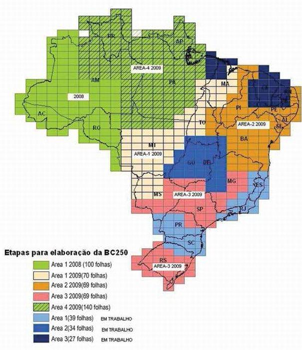Base Cartográfica do Brasil Rastreamento de estações totais