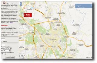 Novo aplicativo fornece o itinerário do transporte público de Campinas