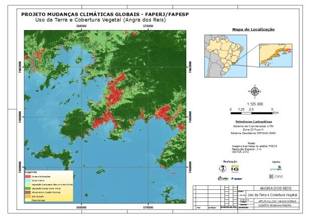 Projeto Mudanças Climáticas UERJ - Uso da terra e cobertura vegetal de Angra dos Reis