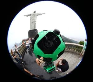 Google Street View inicia captura de imagens no Cristo Redentor Google Street View captura imágenes en el Cristo Redentor