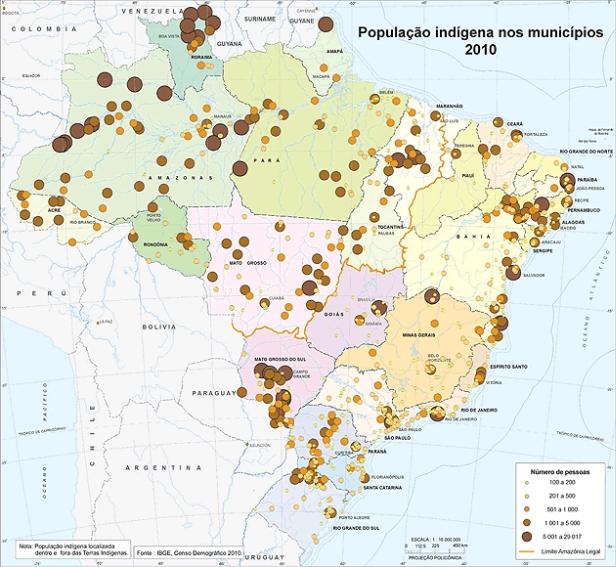 IBGE lança mapa da população indígena no país  IBGE lança mapa da população indígena no país