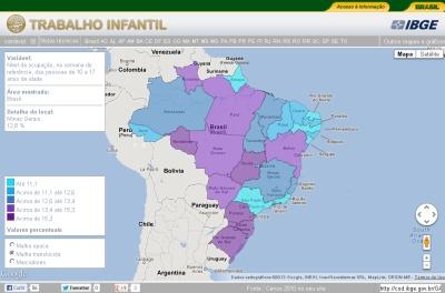 IBGE apresenta mapa do trabalho infantil