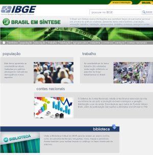 Brasil em sintese IBGE lança versão atualizada do site Brasil em Síntese
