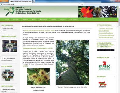 Flora Mapeada Artigo mostra o sistema de mapas e informações Florístico Florestais de SC