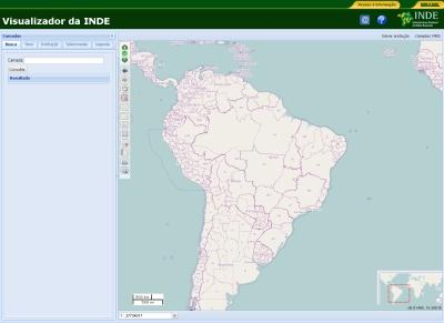 Infraestrutura Nacional de Dados Espaciais Ide Infraestructura de datos espaciales de Brasil cuenta con nuevos datos