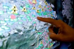 Mapas Google no Centro de Operações do Rio de Janeiro