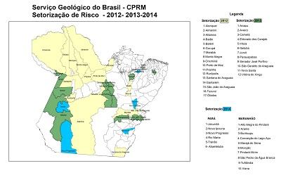 Mapeamento cprm para CPRM divulga balanço do mapeamento de áreas de risco no Pará