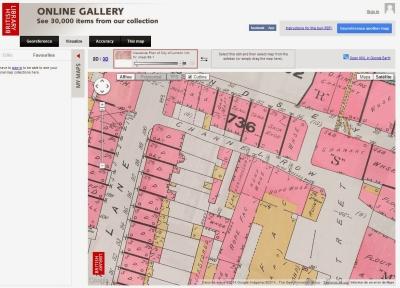 Disponibles 2700 mapas georeferenciados de la British library Disponibles 2700 mapas georeferenciados de la British library