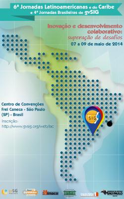 jornadasAmericaLatina Disponível programação de evento latino americano sobre software GIS livre