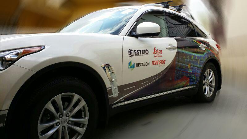 Veículo utilizado pela empresa Esteio para serviços de mapeamento móvel estará em exposição