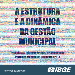 IBGE lança Perfil dos Municípios Brasileiros 2013