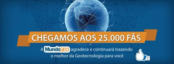 MindoGEO 25Mil 600x222 MundoGEO Achieves 25 Thousand Fans on Facebook