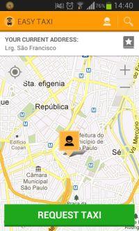 easytaxi Plataforma usa geolocalização para ajudar a encontrar taxis em Curitiba