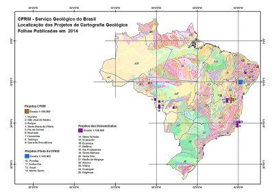 CPRM mapas geologicos Fueron lanzados nuevos mapas geológicos de Brasil