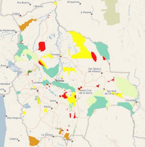 GeoBolivia pone a disposición el Mapa de Áreas Protegidas del país
