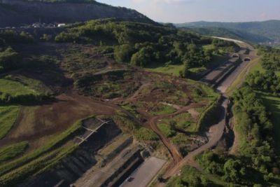 LandslideonCzech UAV monitors landslide on Czech Highway