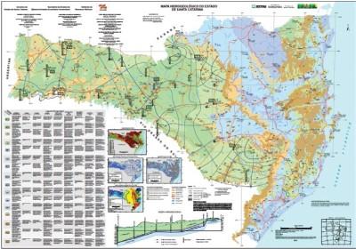 Mapa Hidrogeologico de SC Mapa hidrogeológico de Santa Catarina