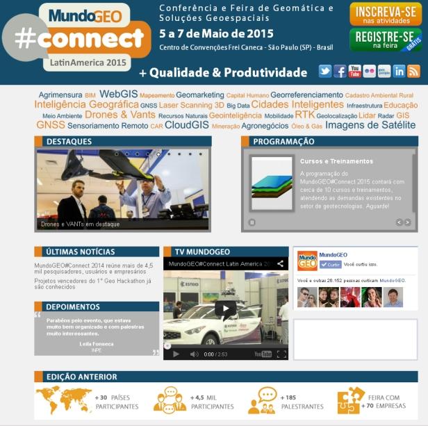 MundoGEO#Connect 2015-Site