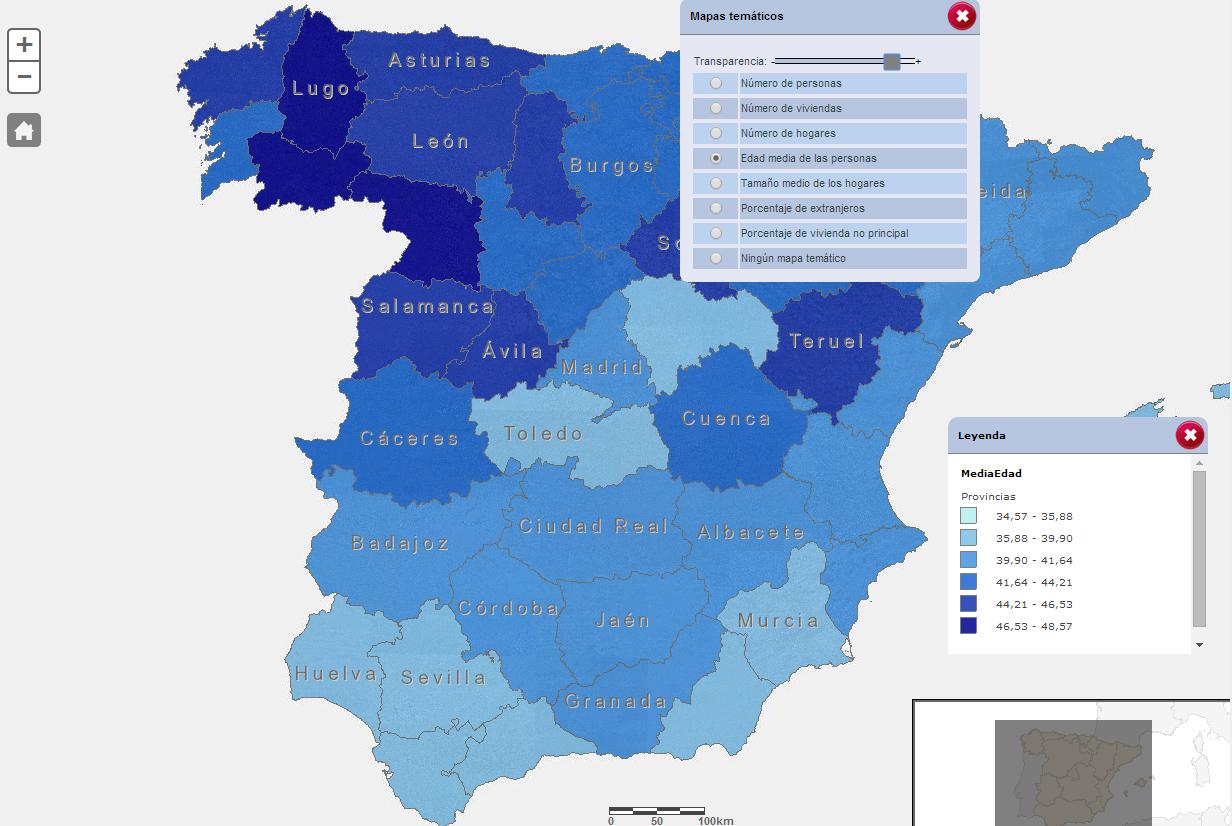 Mapa Provincias España Interactivo.El Ine Utiliza Mapas Interactivos Para La Consulta De Datos