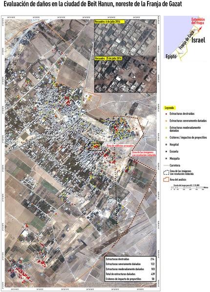 Imágenes de satélite muestra las destrucciones causadas por Israel en Gaza2 Imagens de satélite mostram a destruição causada por Israel na Faixa de Gaza