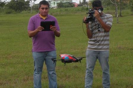 drone at university of belize1 Universidade de Belize utiliza drone para monitorar inundações