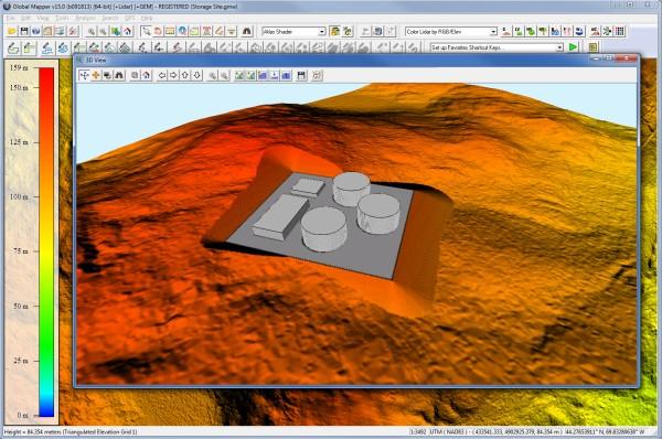 GM 3D Vectors La nueva versión del Global Mapper incluye navegación 3D