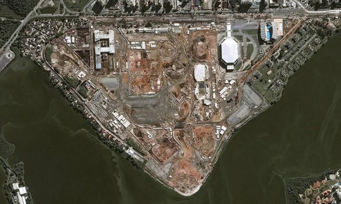 Obras do Parque Olímpico serão monitoradas do espaço