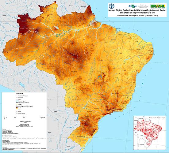 mapa carbono2 Embrapa lança mapeamento digital dos solos brasileiros