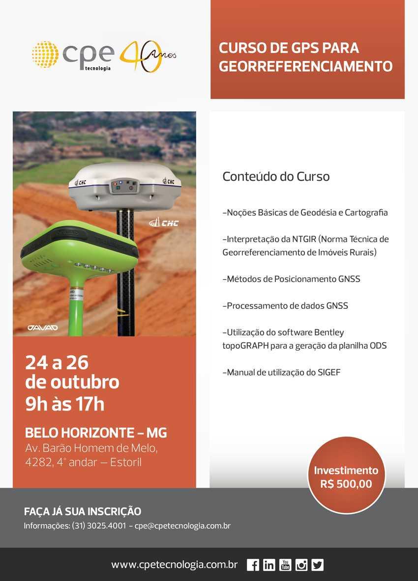 Curso de Georreferenciamento Belo Horizonte