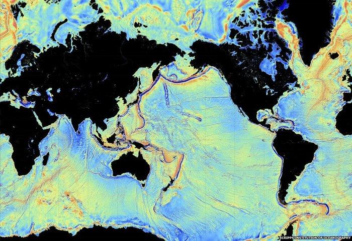 Gravidade revela fundo do mar El satélite CryoSat provee datos para el mapa del relieve oceánico